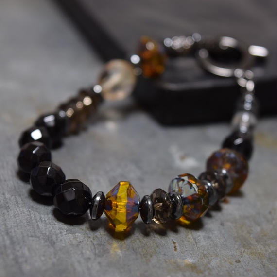 """アルクス チェコガラス ブレスレット<ビー>""""ARCUS czechglass  bracelet (BEE)"""""""