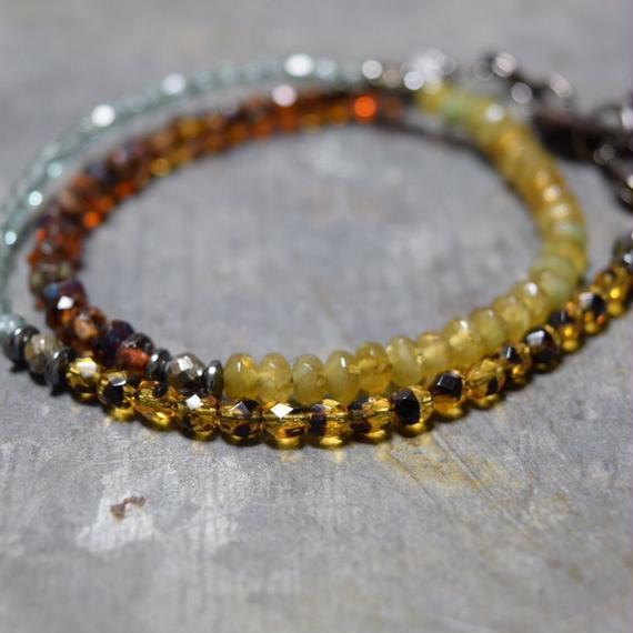 """アルクス チェコガラス ラップブレス 〈フォレスト〉""""ARCUS czechglass wrap bracelet(forest)"""""""