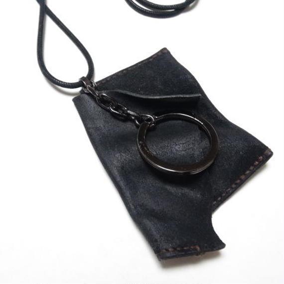 """コーティング カウリバース コインケースネックレス 製品洗い """"coating COWREVERSE coincase necklace(garment wash)"""""""