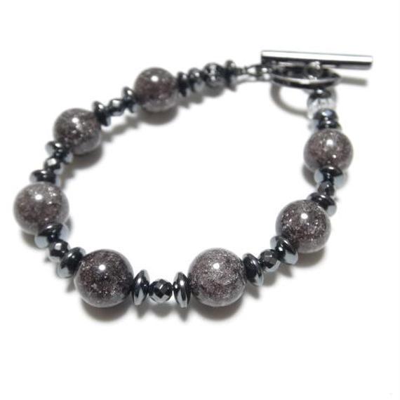 ブラッククラッククリスタル 10mm スピーナブレス ''BLACKCRACKCRYSTAL 10mm spina bracelet''