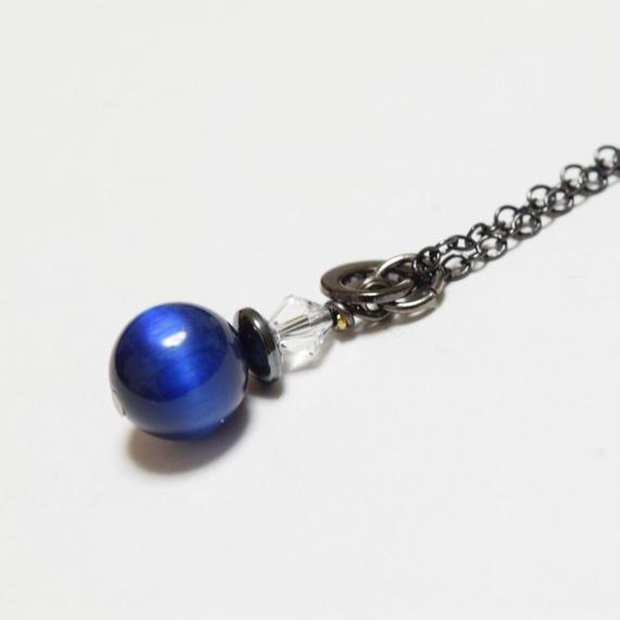 ブルータイガーアイ ソリタリー ネックレス''BLUETIGEREYE solitary necklace''