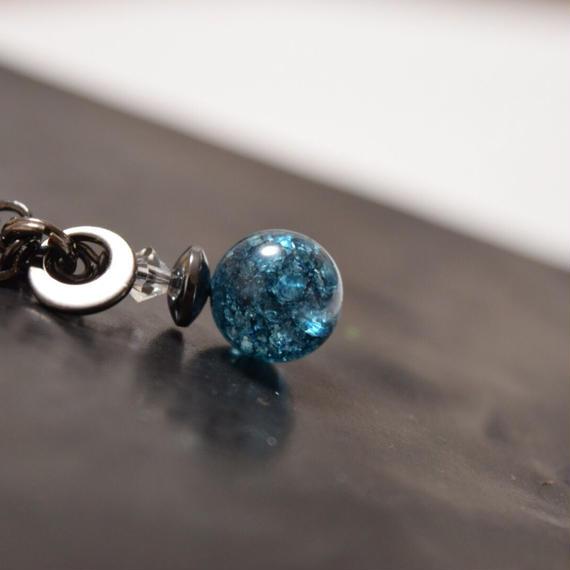 ブルークラッククォーツ ソリタリー ネックレス''BLUECLACKQUARTZ solitary necklace''