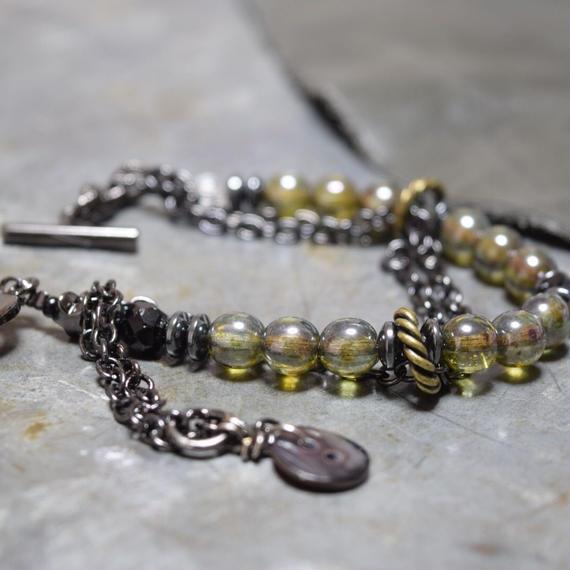 """アルクス チェーン レイヤーブレス〈ダークフォレスト〉""""ARCUS chain layer bracelet(DARKFOREST)"""""""