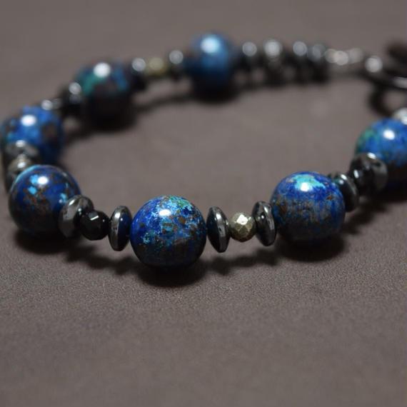 クリソコラ AAA 10mm ラウンドスピーナブレス''CHRYSOCOLLA  AAA 10mm round spina bracelet''