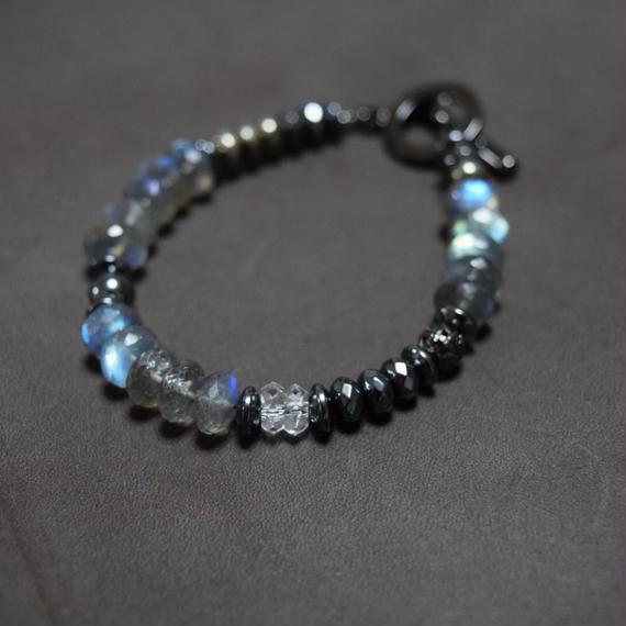 ラブラドライトAAA  シングルブレス ''LABRADORITE AAA single bracelet''