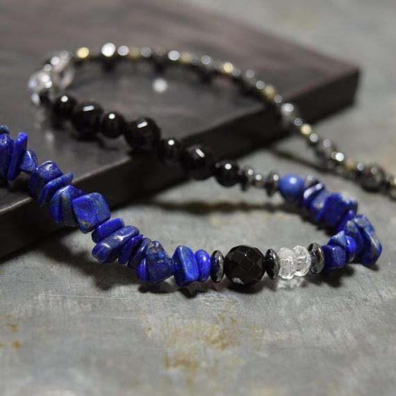 """ラピスラズリ ハイブリッド ラップブレス""""LAPISLAZULI hyblid wrap bracelet"""""""
