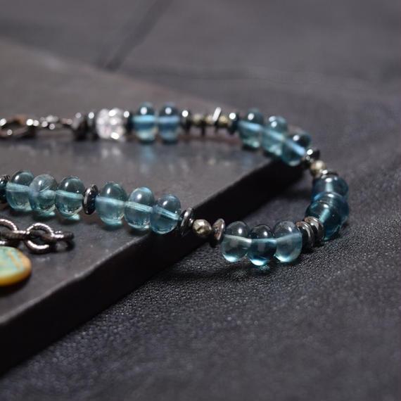 グリーンフローライト チェーンテイルブレス''GREENFLOWLITE  chaintail bracelet''