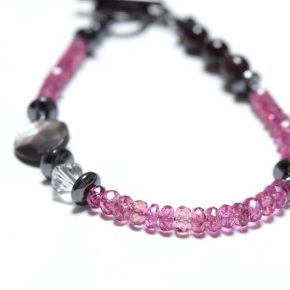 ピンクトルマリン AAA スターシェル ブレス''PINKTOURMALINE AAA shell bracelet ''