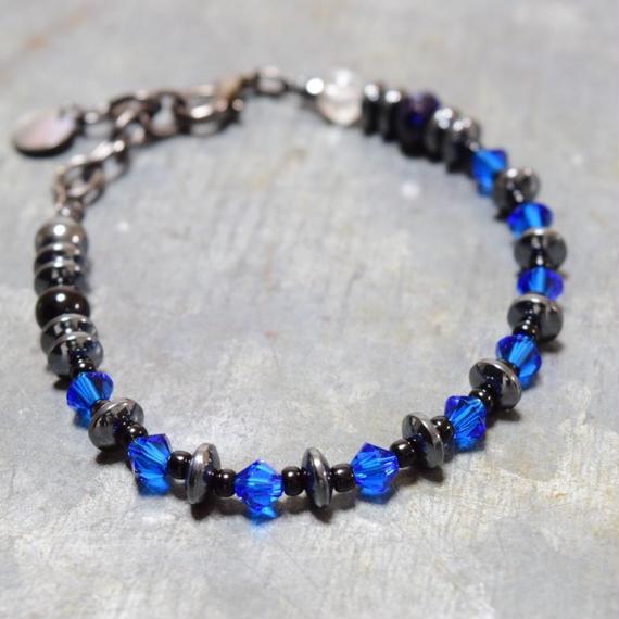 """""""スワロフスキー スピーナブレス[ディープブルー ]swarovski  spina bracelet(DEEPBLUE)"""""""