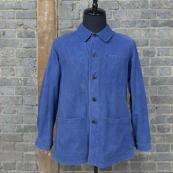 mid 20th c. french vintage cotton twil marine  work jacket