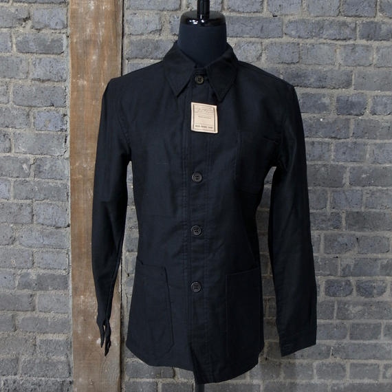 """early 20th c. deadstock french black work jacket  """"linen × cotton"""""""
