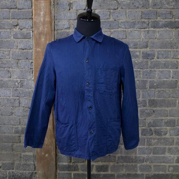 "mid 20th c. french vintage cotton work jacket ""herringbone"""