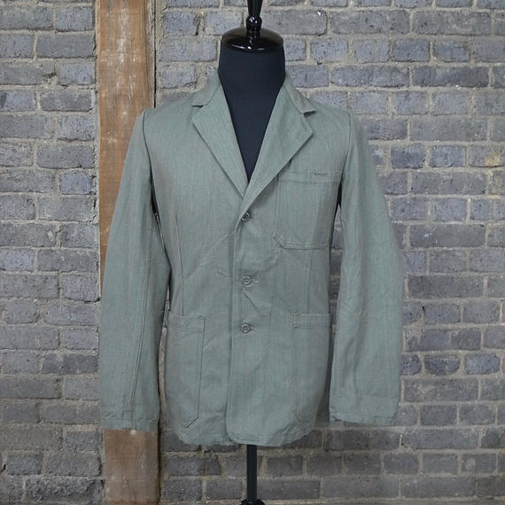 "cir. mid 20th c. nordic vintage cotton work jacket ""deadstock"""