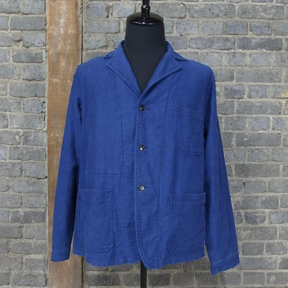 1950's french vintage blue moleskin work jacket
