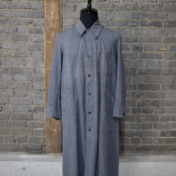 early 20th c. french salt&pepper motorcycle coat