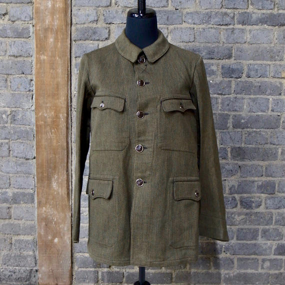"""mid 20th c. french cotton pique hunting jacket  """"deadstock"""""""