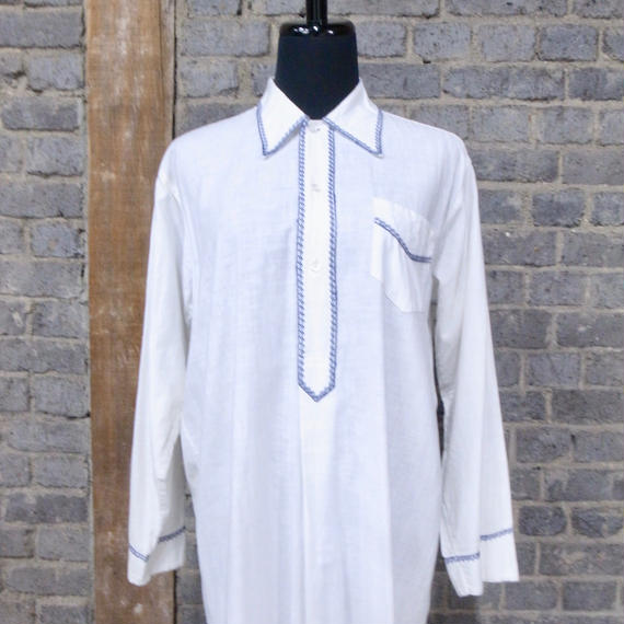 mid 20th c.  german  white long shirt