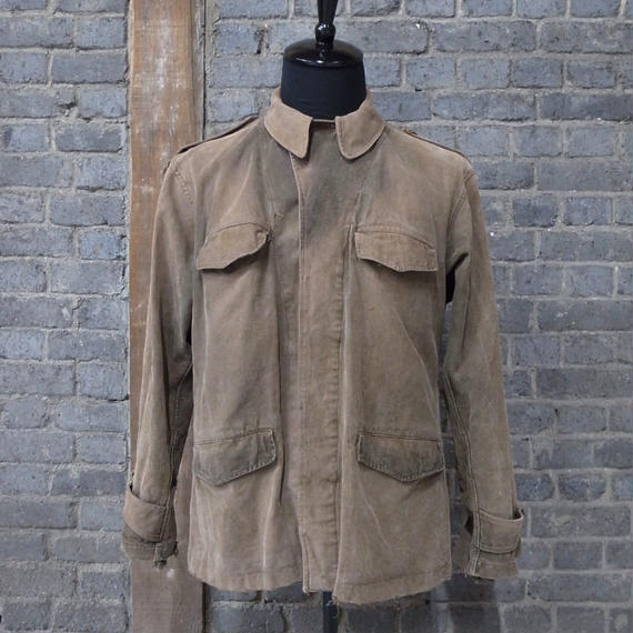 """1940's french army """"M-47""""   mud dyed flide jacket"""