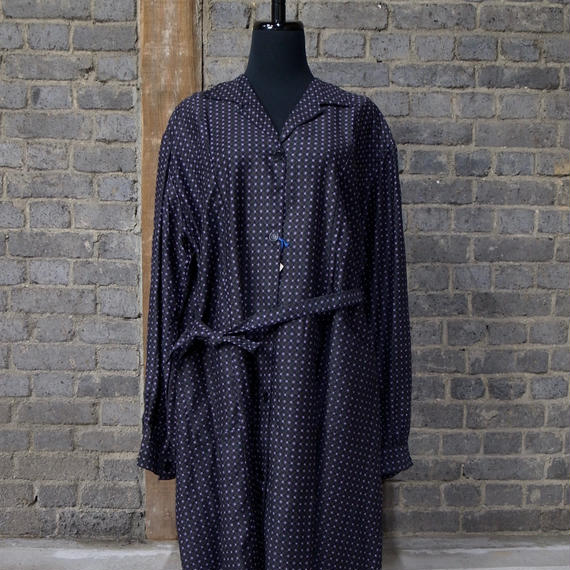 """early 20th c. deadstock french printed work dress """"moleskine"""""""