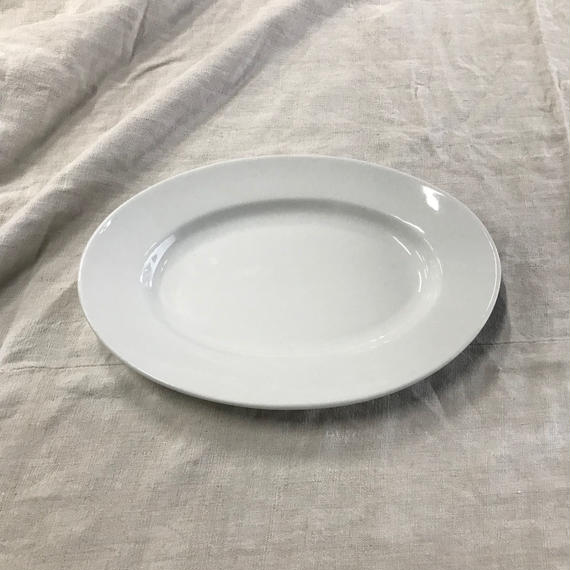 19th. c. french antique ceramic oval plate