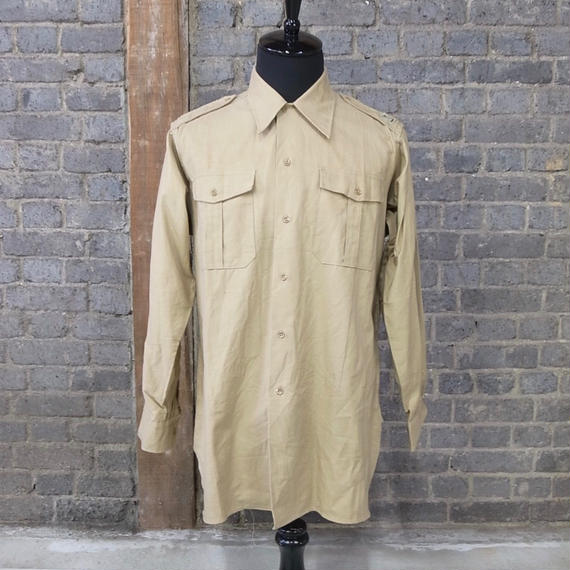 """1950-1960's french vintage cotton work shirt """"dead stock"""""""