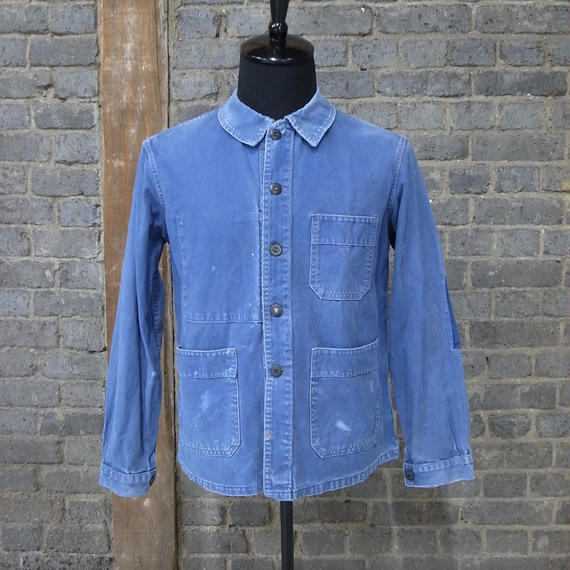 40s50s Adolphe Lafont  FRENCH WORK JACKET -REPAIR ART-