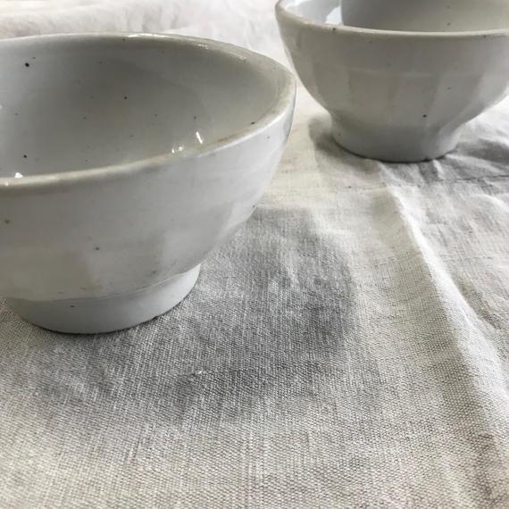 late 19th. c. antique porcelain cafe au lait bowl 2set