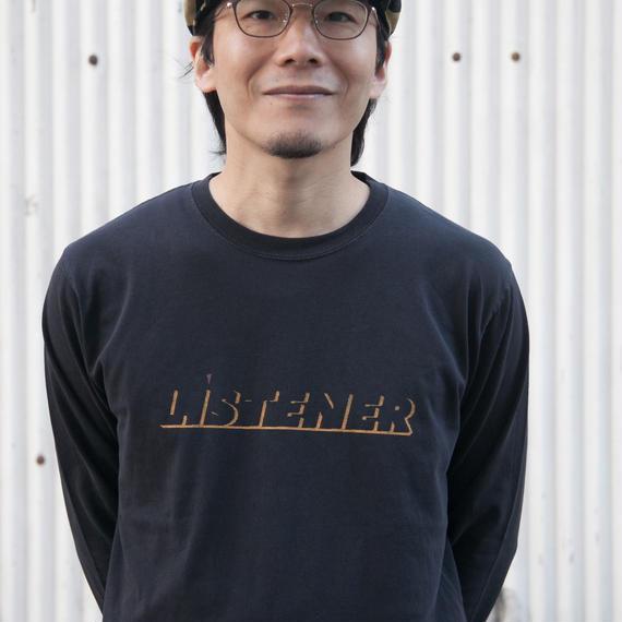 【予約受付12/24迄】ヘビーリスナー ロンT ブラック UNISEX S〜XL