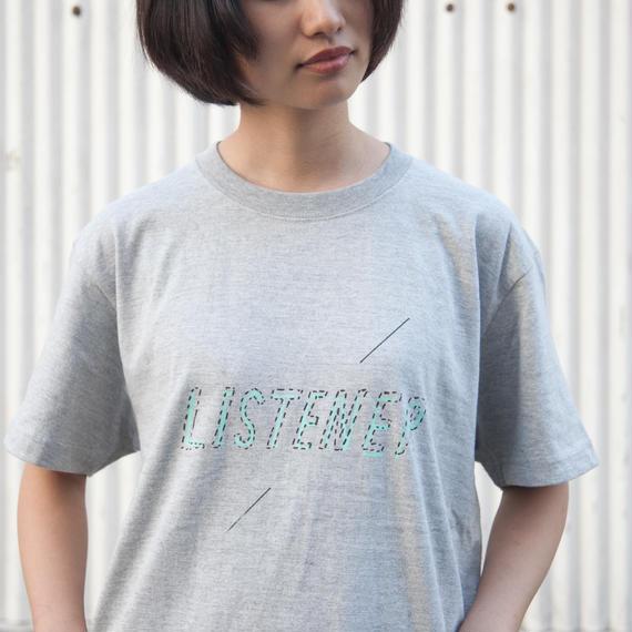 【予約受付12/24迄】リスナーTシャツ ヘザーグレー UNISEX S〜XXXL