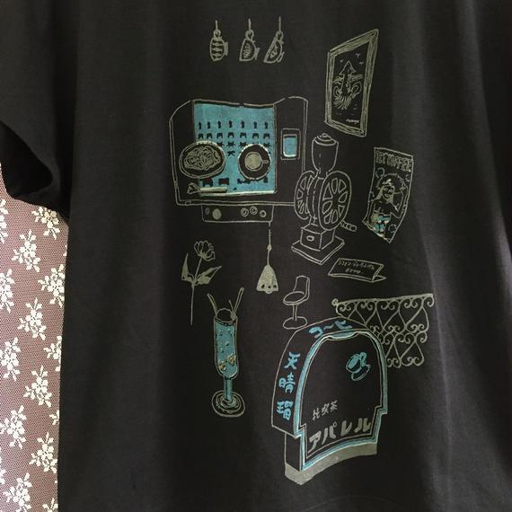 純喫茶 アパレル スタンダードTシャツ 黒 ブラック