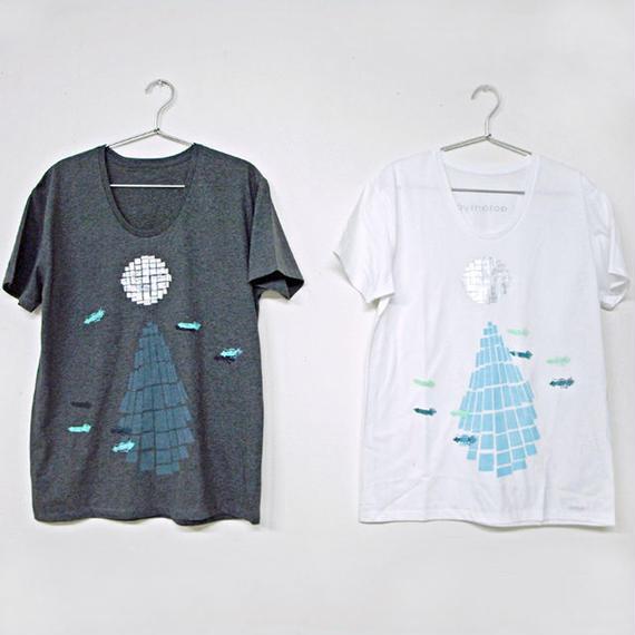 【在庫限り】Tシャツ ミラーボールとホタルイカ 白 White L