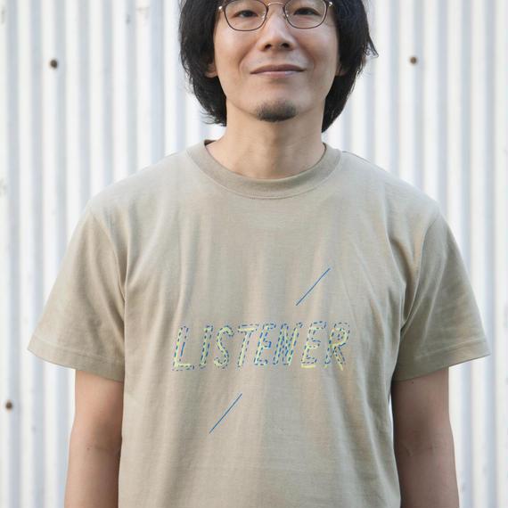 【予約受付12/24迄】リスナーTシャツ サンドカーキ UNISEX S〜XXXL