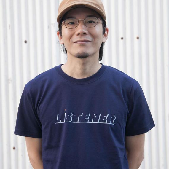 【予約受付12/24迄】ヘビーリスナーTシャツ ネイビーUNISEX XS〜XXL