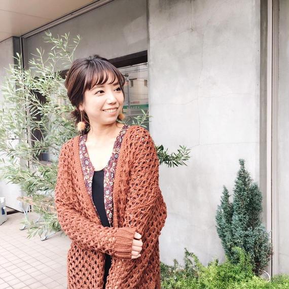 《10/24 ゴジカル!着画》魅惑のロングニットカーディガン【レンガ】