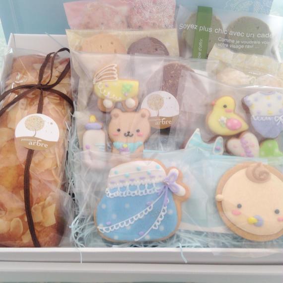 【B-9】名入れ、メッセージ無料★ベビー焼き菓子ギフトL