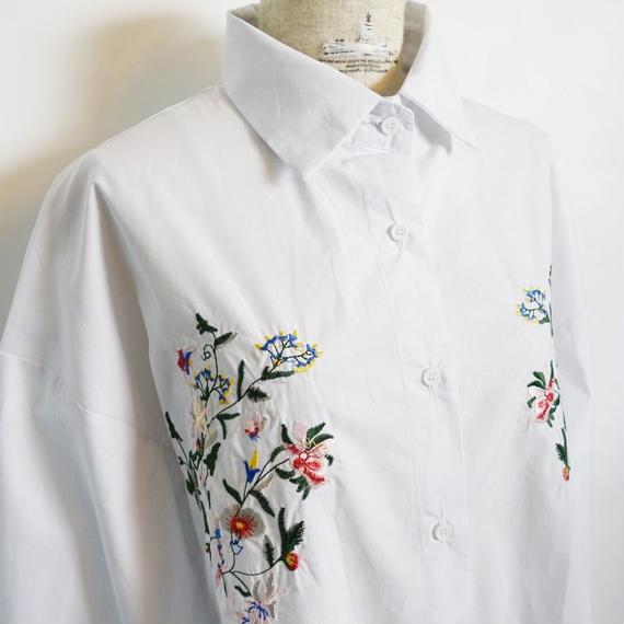 シシュウポプリンシャツ 2col