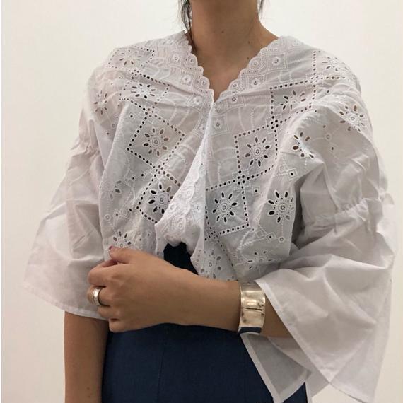 カットワークシャツ   2col