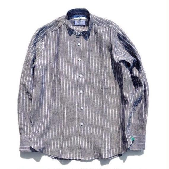 James Mortimer(ジェームスモルティマー)   IRISH LINEN  バンドカラーシャツ