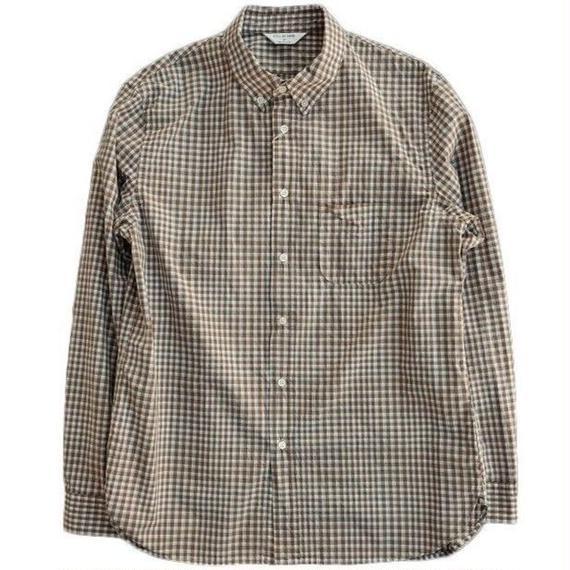 STILLBYHAND(スティルバイハンド)   ボタンダウンシャツ  BEIGEGINGHAM