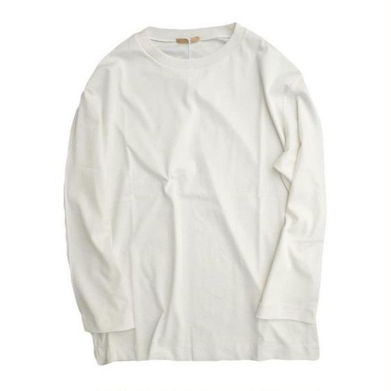 LAMOND(ラモンド)   SUVIN 8分袖TEE  WHITE