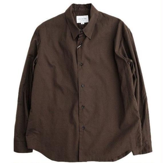 STILLBYHAND(スティルバイハンド)  ローン袋縫いシャツ  BROWN