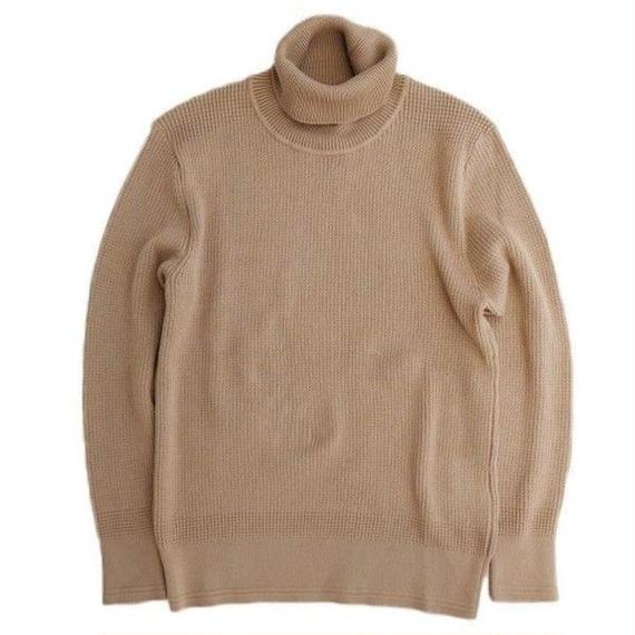 DELICIOUS(デリシャス)   Cotton Turtleneck Sweater   BEIGE