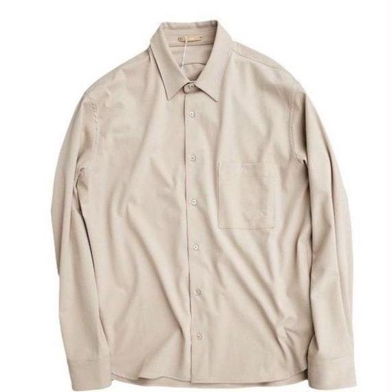 LAMOND(ラモンド)   ストレッチシャツ   BEIGE