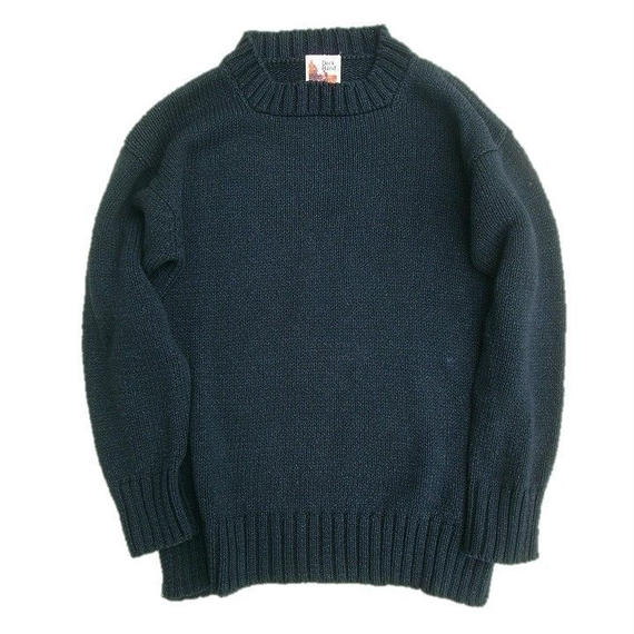 DECK HAND(デックハンド)   INDIGO COTTON KNIT  BLACKINDIGO