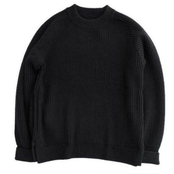 CURLY(カーリー)   AZTEC CN SWEATER   BLACK
