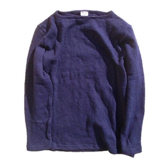Tieasy authentic classic  002ボートネックシャツ  NAVY