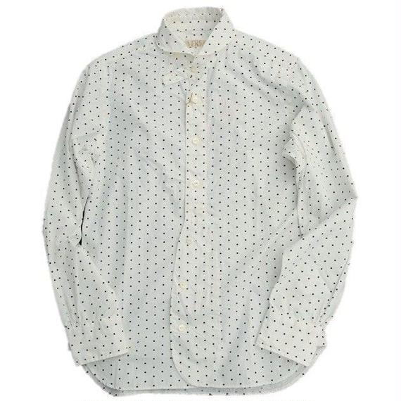 HAVERSACK(ハバーサック)   ドットプリントシャツ   WHITE