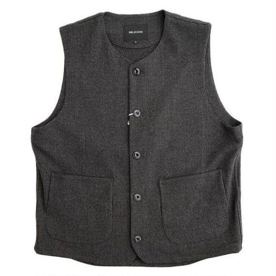 DELICIOUS(デリシャス)   Stretch Relax Vest   DARKGRAY