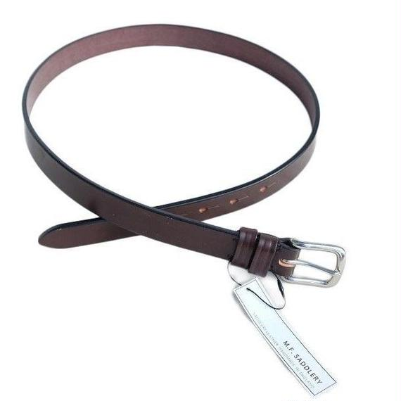 Martin Faizey(マーティンフェイジー)  west end buckle saddle leather Belt 1inch  H.BROWN