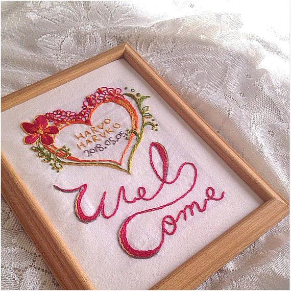 ウェルカムボード「welcome heart」